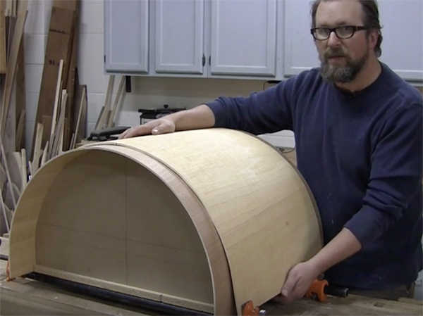Curving Bendable Plywood Around a Form  Woodworking