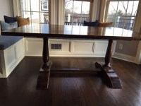 Breakfast Nook Benches and Trestle Table - Woodworking ...