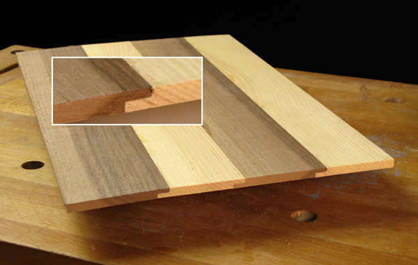 Lap joints help align thin panels and strengthen the joint.