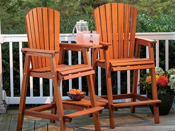 bar height outdoor chairs abode fishing chair review full plan download adirondack woodworking blog