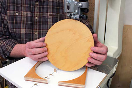 Bandsaw Circle Cutting Jig Plans
