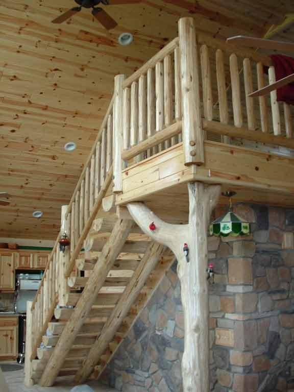 Rustic Wood Stairs And Railings Cedar Pine Staircases   Rustic Stair Railings Interior