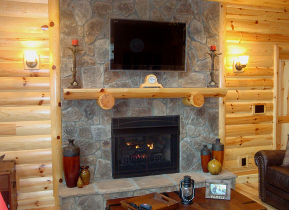 Log Mantels  Accessories  Rustic Fireplace Mantels