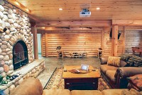 Rustic Man Cave | Build Your Own Log Cabin Man Cave