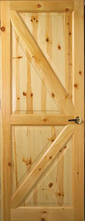 Custom Interior Wood Doors  Cedar  Knotty Pine Doors