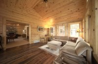 Interior Log Siding for the Ultimate Man Cave