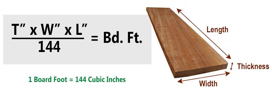 Board Foot Calculator Lumber