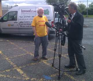 ITV Wales filming at our workshops