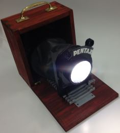 Camera style light made at Hawarden High School