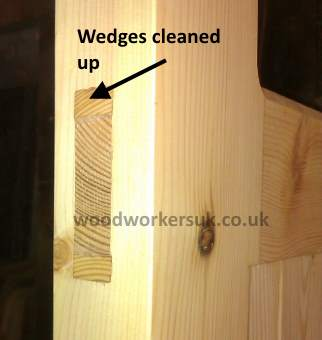 Completed through wedged mortice and tenon joint
