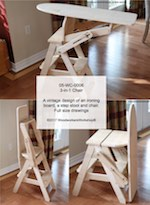 chair step stool ironing board desk melbourne bachelor woodworking plans and information at woodworkersworkshop 3 in 1 plan vintage boards stools