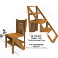 Library Chair Ladder Plans Table And Chairs Gumtree Ni Woodworking Information At Woodworkersworkshop Mission Style Folding Step Plan Chiars