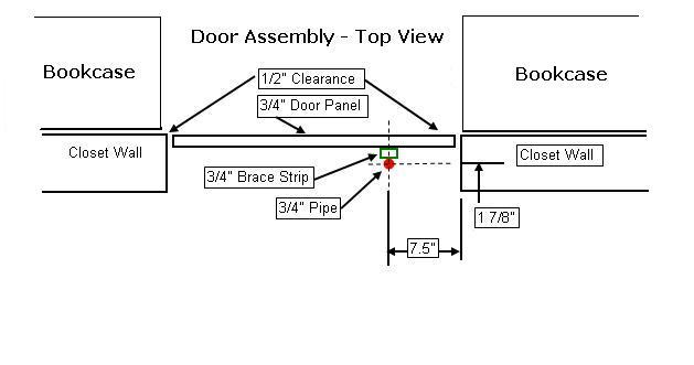 Wood Bookcase Hidden Door Plans PDF Plans