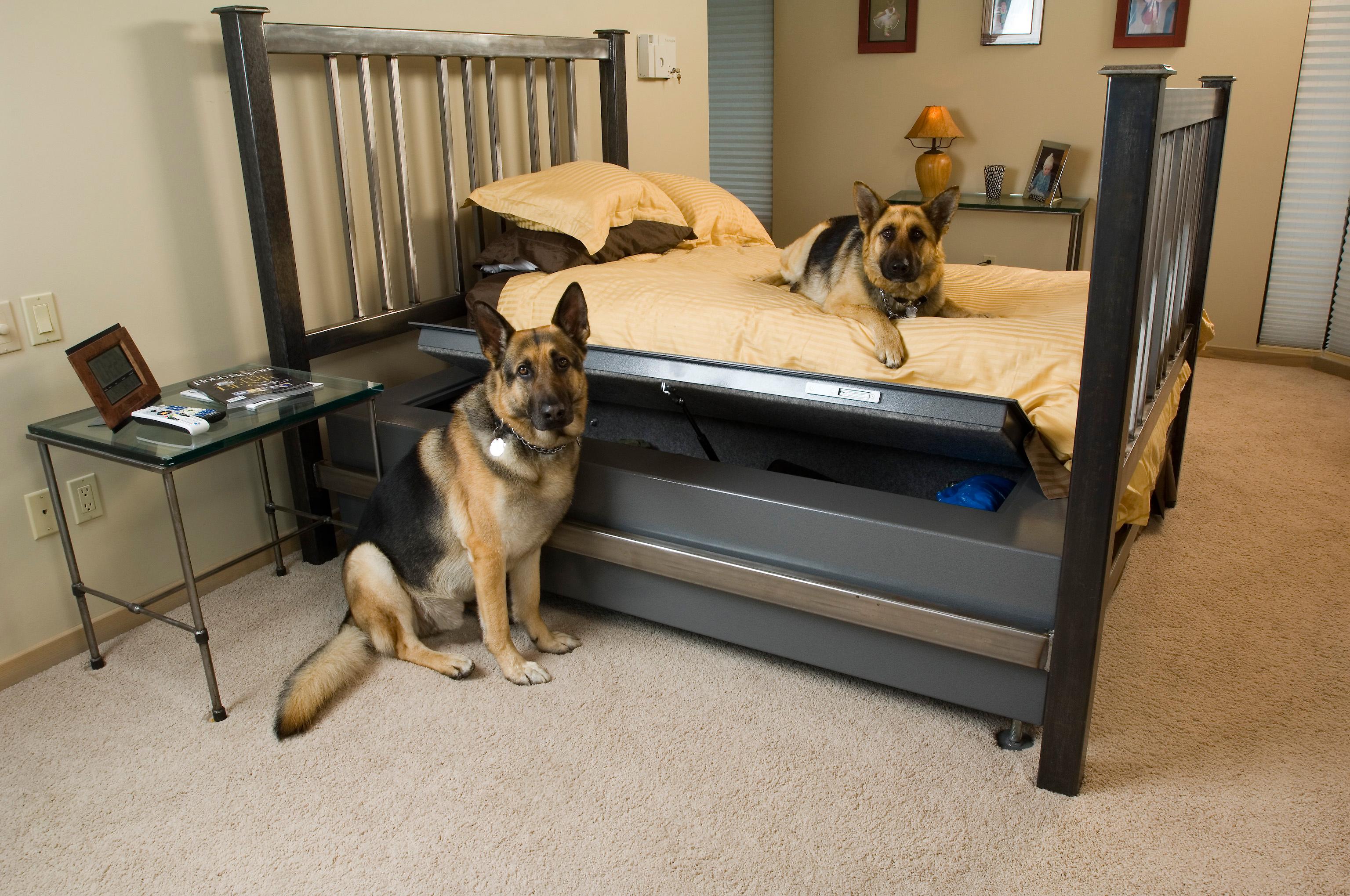 sofa gun safe best bed sg bullet proof furniture conceals a woodworking network