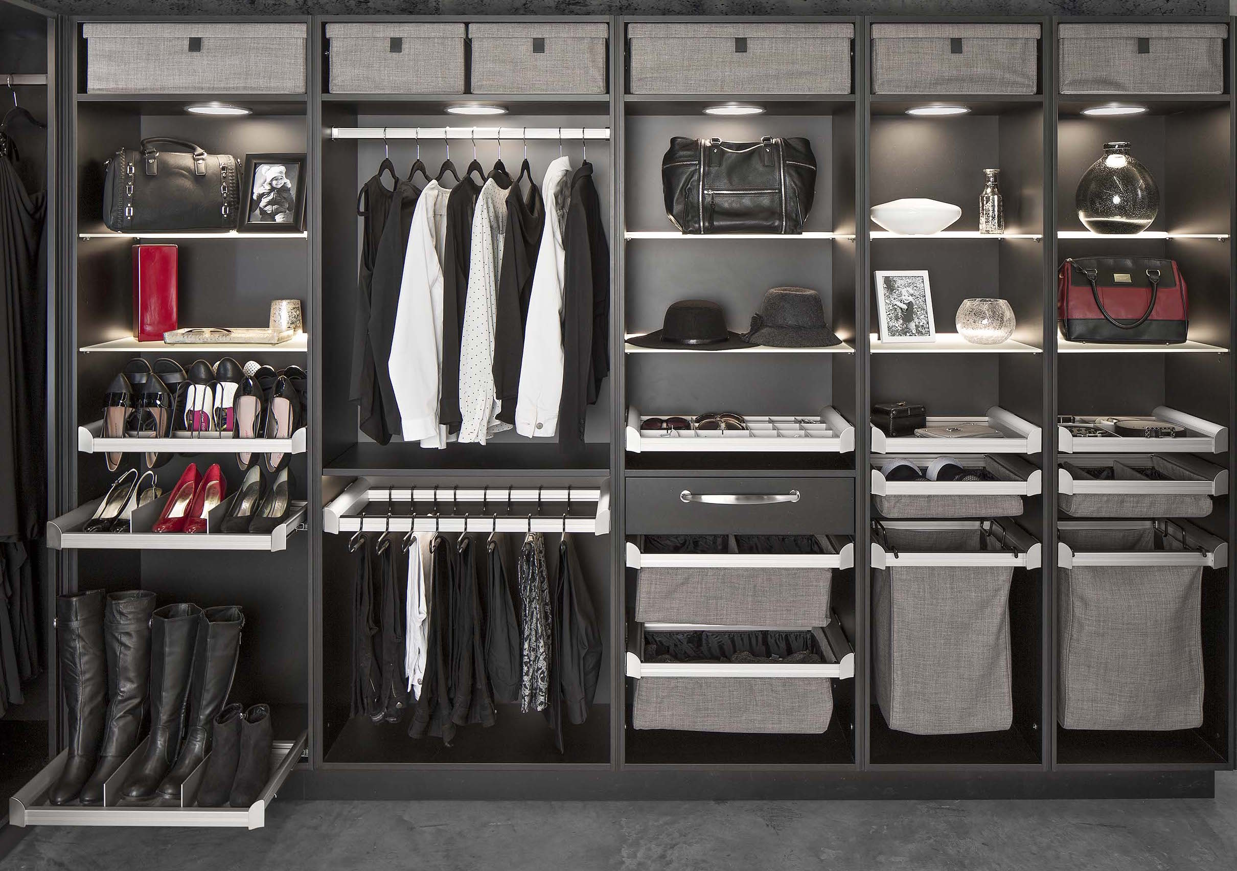 Hafeles ENGAGE closet system features modular components