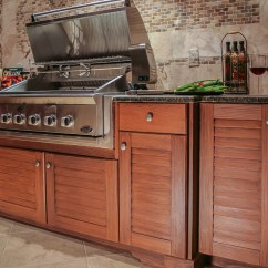 Outside Kitchen Cabinets Refrigerators For Small Kitchens Naturekast Outdoor Cabinetry Uses Pvc Covered In