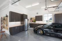 Modern Garage Design Features Kitchen And Clever Storage