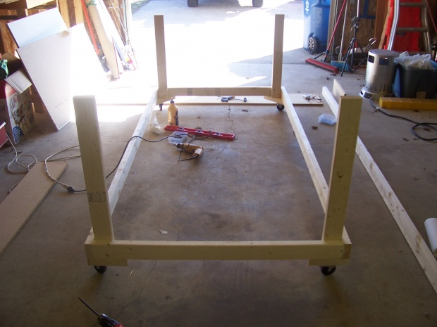 4×8 Rolling Work Table Plans
