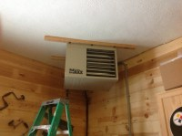 Ceiling mount garage heater