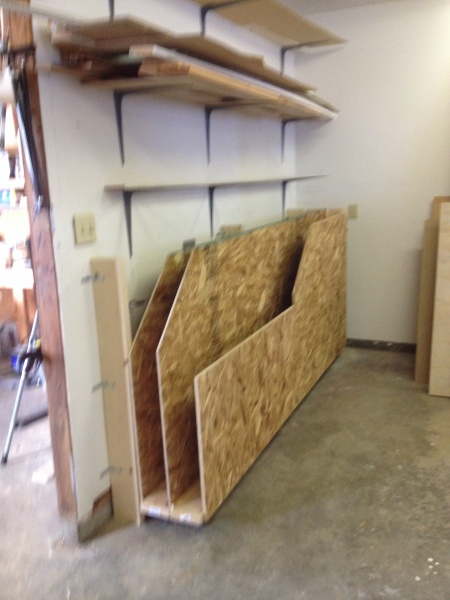 Plywood Storage Rack With Rollers Woodworking Talk