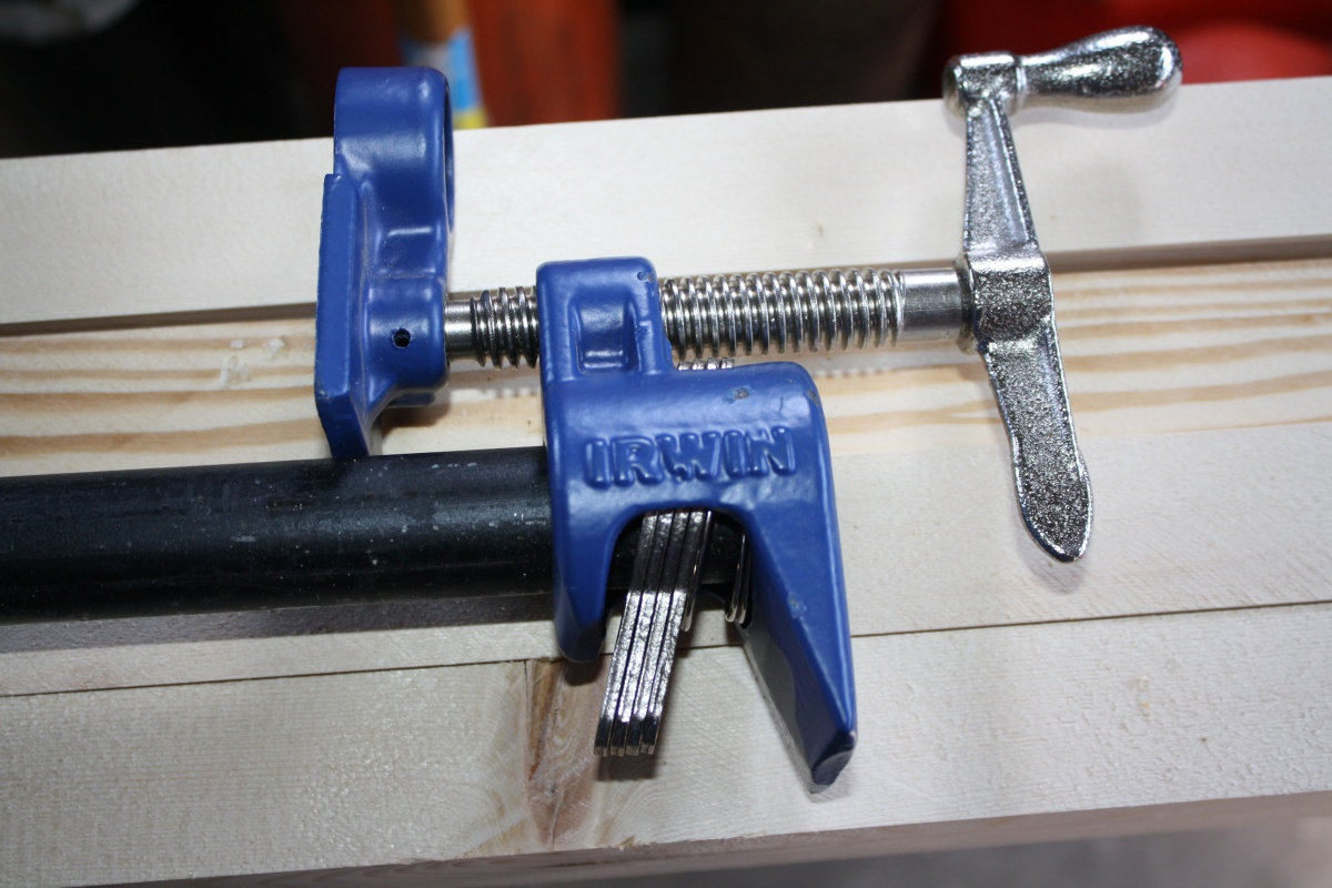 Irwin Pipe Clamp Modified For Push Pull