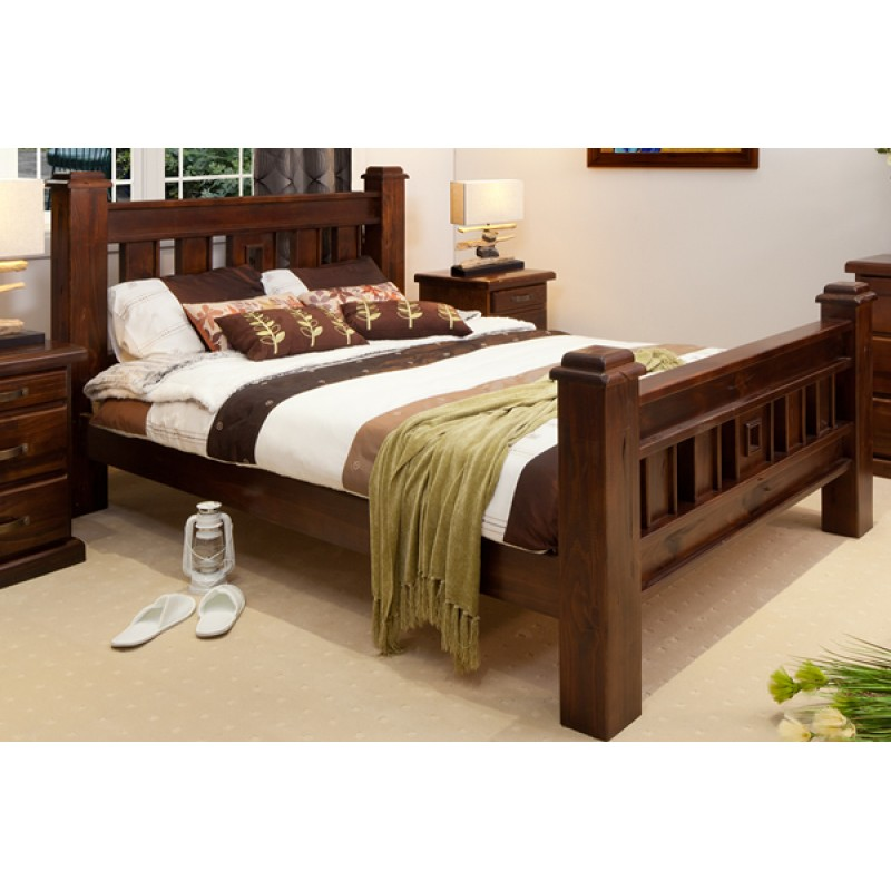 Rustic King Size Bed Wooden Furniture Sydney Timber Tables Bedroom Furniture Wooden Furniture Buy Furniture Timber Wood Furniture Wood World Furniture