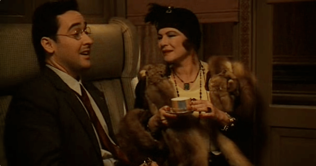 Cusack and Wiest in Bullets Over Broadway