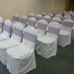Chair covers and aubergine sash (4)