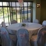 Chair covers and pink sash at The Tytherington Club (2)