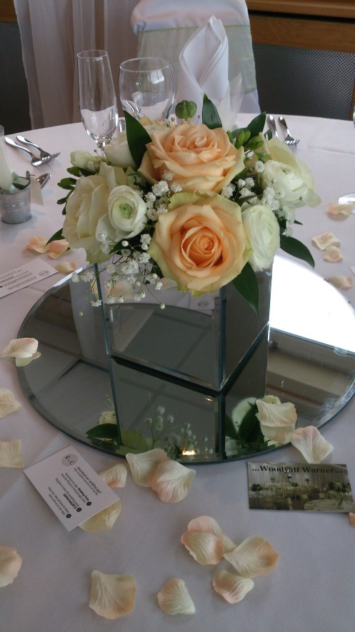 Wedding flowers at Chester Race Course