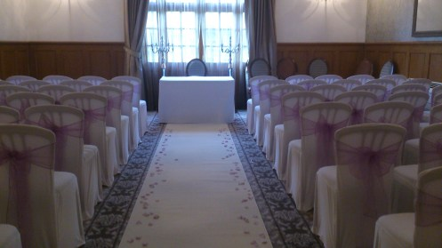 Ceremony in the Delamere Suite