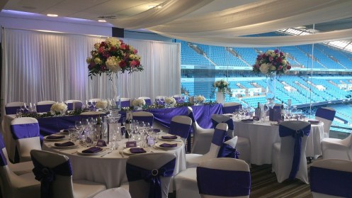 MCFC Wedding venue dressing