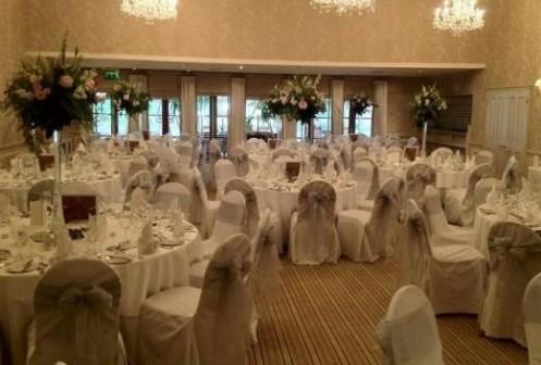 Rowton Hall wedding venue dressing
