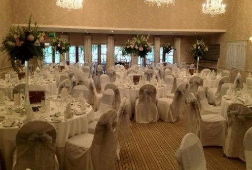 Rowton Hall wedding venue dressing