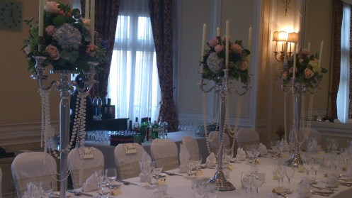 Midland Hotel wedding venue dressing