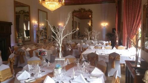 Ruthin Castle venue dressing