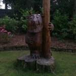 Wood calvings at Moss Wood