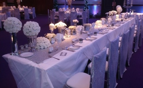 Venue dressing with silver