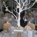 Gold tree centrepiece