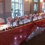 Mottram Hall wedding venue dressing