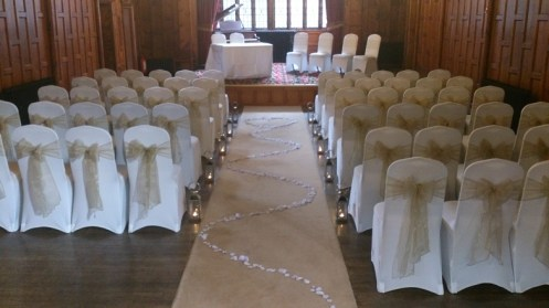 Worsley Court House Venue Dressing