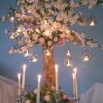 Summer tree wedding centrepiece