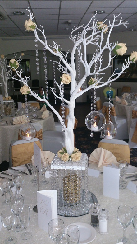 Gold And White Manzanita Tree Centrepiece Woodyatt Warner