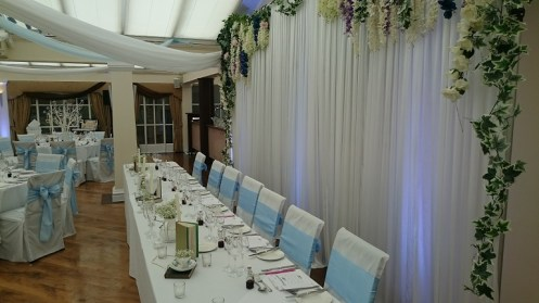 floral backdrop hire cheshire