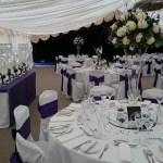Nunsmere Hall wedding venue dressing