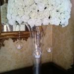 rose wedding table centrepiece