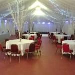 Marquee room Bowdon Rugby Club