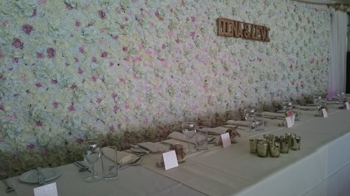 flower wall hire cheshire