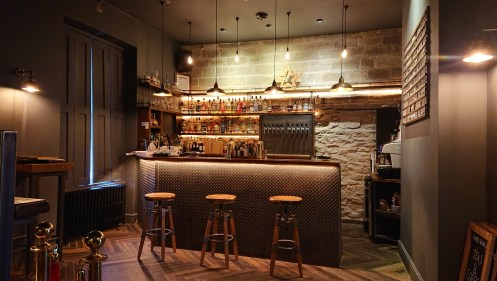 wedding bar area