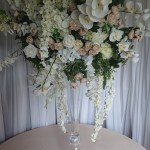 Huge-rose-hydrangea-wosteria-and-orchid-centrepiece